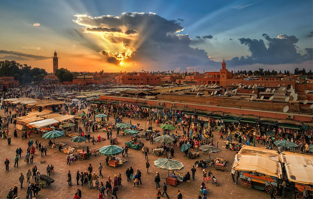 übertragen Sie Marrakesch